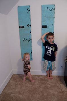 make a growth chart to measure every so often. Boys especially love these bc they are so darn competitive.