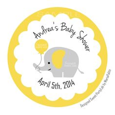 New from Partymazing on Etsy: Printable Baby Shower Stickers PERSONALIZED DIY Baby shower Elephant tags Personalized Tags Stickers Gift Tags Cupcake Toppers D051 (8.00 USD) For more @partymazing