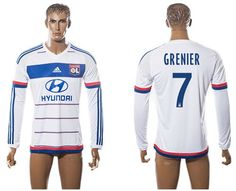 4dc7ea54d Lyon  7 Grenier Home Long Sleeves Soccer Club Jersey Basketball Jersey