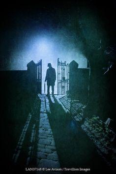 Lee Avison - MAN AT CEMETERY GATES - People - Men