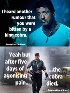 The Expendables 2: When Chuck Norris makes a Chuck Norris joke!