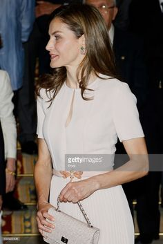 Queen Letizia of Spain attends the Presidency of the Plenary of the Spanish Royal Academy of Language 'RAE' on June 22, 2017 in Madrid, Spain.  (Photo by  Jose Luis Cuesta - Pool/Getty Images)