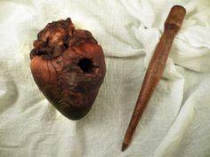 Mummified heart of a suspected vampire.