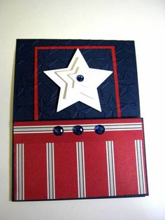 By GardenDiva at Splitcoaststampers. I think I'd like red, white, and blue stars instead of all white.