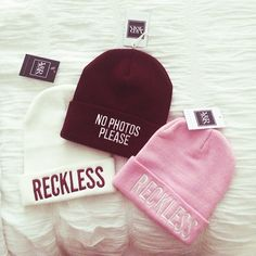 Reckless and No Photos Please Beanies