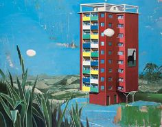 Matthias Weischer (b. 1973)   Ohne Titel   signed and dated 'Matthias Weischer 2001' (on the reverse)   oil on canvas   59 x 75in. (150 x 190.5cm.)   Painted in 2001 via christies