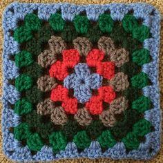 Crochet mood blanket 2014: Week 8 granny square for the afghan I am crocheting.