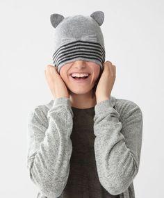 Gorro gato - Acessórios -Tendências SS 2017 em moda de mulher na Oysho online: roupa interior, lingerie, roupa desportiva, étnica, boho, sapatos, complementos, acessórios e moda de banho.