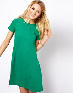 ASOS Swing Dress In Nepi With Seam Detail