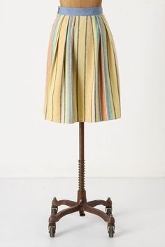 cute stripe linen skirt