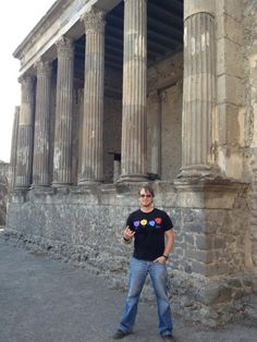 Here in Pompeii. It was amazing and hot!