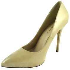 Pleaser Heels Classic Pump Hidden Platform Stiletto Shoes Patent Amuse-20 Cream