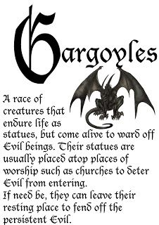 The gargoyles in The Beautiful & the Cursed have slightly different rules, but the essence is the same. Love gargoyles!