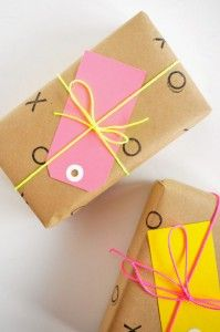 Fun neon twine - perfect for gift wrapping and crafts (purchase online from Emerald + Ella)
