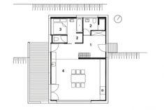 Grundriss Hauptgeschoss Einfamilienhaus Backraum Architektur