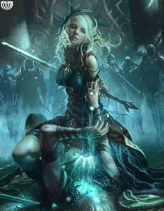 Artist: Unknown - Title: Unknown - Card: Storm Empress Avril