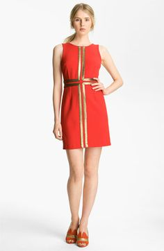 Tracy Reese 'Couture Cloth' Gold Appliqué Shift Dress available at #Nordstrom