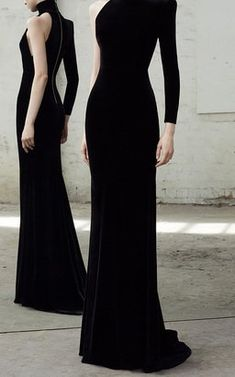 Harlyn Velvet Single Sleeve Gown by Alex Perry