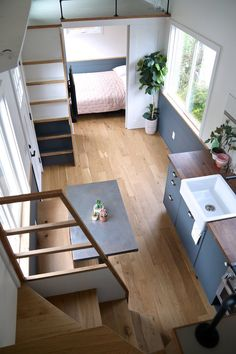 """""""Legacy"""" Tiny House on Wheels by Handcrafted Movement Tiny House Movement // Tiny Living // Tiny House Living Room // Tiny Home Kitchen // Tiny House 2 Bedroom, Tiny House Loft, Small Tiny House, Building A Tiny House, Modern Tiny House, Tiny Houses For Sale, Tiny House Plans, Tiny House Design, Tiny House On Wheels"""