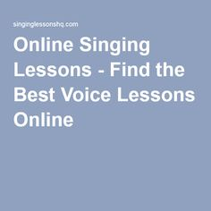 Online Singing Lessons - Find the Best Voice Lessons Online