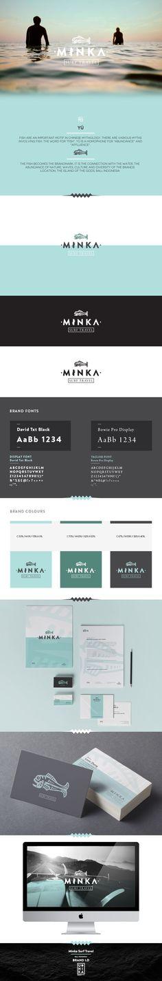 M I N K A - Surf Travel Branding / Brand Design / Brand Identity / Logo / Brands / Logo Design / Surf Camp / Bali