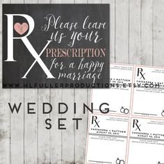 Wedding advice, marriage advice, unique guest book, wedding guest book, guest book, prescription sign wedding, prescription for a happy marriage, happy marriage, wedding, wedding favor, Welcome sign CUSTOM Printable custom by HLFullerProductions
