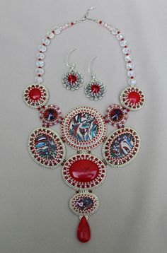 Red Picasso. Picasso Collection. Made by Roxana Bacila. Fb: Beadwork by Roxana Bacila