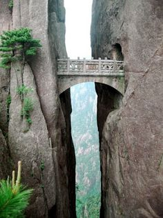 Bridge of the immortals in #Huanghsan, #China http://en.directrooms.com/hotels/country/1-12/