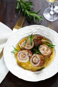 Roulés de viande au parmesan et au jambon de Parme