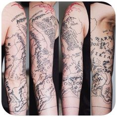 tattoos inspired by the movie the hobbit Nerdy Tattoos, Map Tattoos, Ring Tattoos, Piercing Tattoo, Tribal Tattoos, Cool Tattoos, Tatoos, Fandom Tattoos, Creative Tattoos