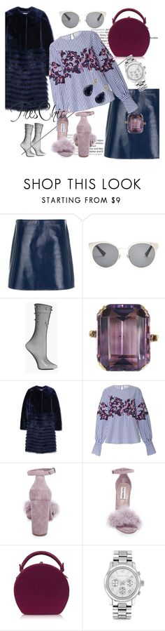 """""""Tres Chic"""" by elenzark ❤ liked on Polyvore featuring Courrèges, Christian Dior, Boohoo, Tory Burch, Tanya Taylor, Steve Madden, Bertoni, Michael Kors and Luxiro"""