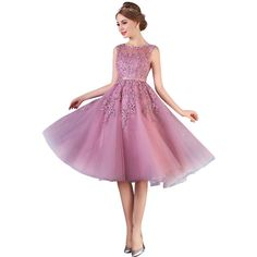 Cheap prom dresses Buy Quality prom dresses directly from China short prom dresses Suppliers: Cheap Dust Pink Beaded Lace Appliques Short Prom Dresses 2017 homecoming dresses vestido de festa Knee Length Party gala dress Cute Homecoming Dresses, Best Prom Dresses, Prom Dresses Online, Cheap Prom Dresses, Prom Party Dresses, Fall Dresses, Evening Dresses, Dress Prom, Prom Gowns