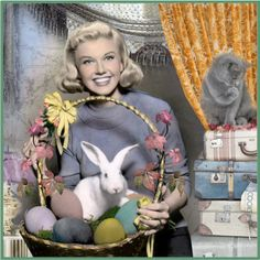 Doris Day (this is the first time I've seen the cat in this photo)