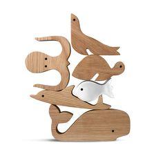 silhouet dier figuren in hout