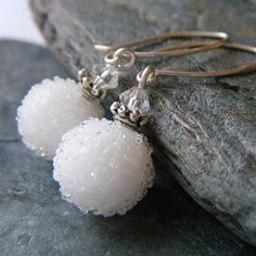 These adorable #snowball #earrings are just what I need this #winter. #jewelry #etsy