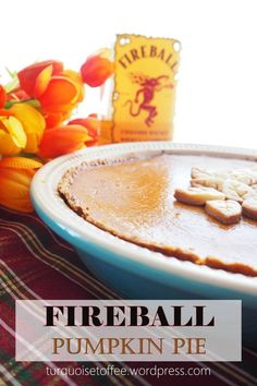 Fireball Whisky Pumpkin Pie…Pumpkin pie is a fall recipe necessity. Pumpkin pie made with Fireball Whisky is on the next level! Because why have just regular, boring, plain old pumpkin pie … Just Desserts, Delicious Desserts, Dessert Recipes, Yummy Food, Pie Recipes, Recipies, Dessert Food, Sweet Desserts, Yummy Yummy