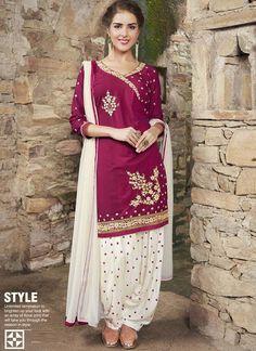 Maroon Cotton Patiala Suit  #wedding salwar kameez #wedding wear #party wear #patial salwar suit