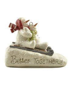 Love this 'Better Together' Sledding Snowmen Figurine by Blossom Bucket on #zulily! #zulilyfinds