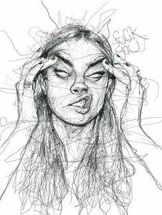 Verärgerte Frauenkunst Angry Woman Art Angry Woman Art The post Angry Woman Art appeared first on Br Pencil Art Drawings, Art Drawings Sketches, Art Sketches, Drawing Art, Drawing Faces, Horse Drawings, Contour Drawings, Charcoal Drawings, Drawing Women Face