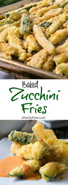 Baked Zucchini Fries - Crispy on the outside and tender on the inside.  A delicious way to cook with fresh garden zucchini!
