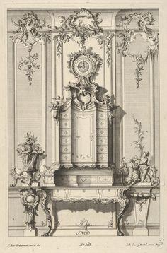 Franz Xavier Habermann | Wall Elevation with a Secretaire, from 'Schreibtische' | The Metropolitan Museum of Art