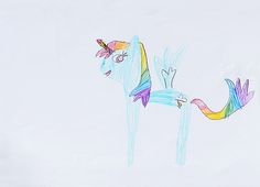 my little pony. pencil. 2014 summer. A4.