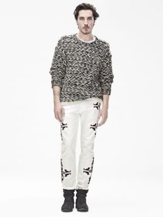 First look at great new line by Isabel Marant for H&M men. Male Fashion Trends, Fashion News, Fashion Models, Mens Fashion, Isabel Marant, Niels Schneider, H&m Collaboration, French Models, Knitwear Fashion