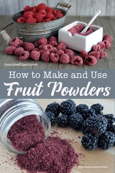 25 Ways to Make Learn these ways to use fruit powders to extend the life of dehydrated fruits and elevate everyday foods to something wonderful! Fruits Déshydratés, Fruits Basket, Seasonal Fruits, Paleo Snack, Snack To Go, Plat Vegan, Do It Yourself Food, Homemade Spices, Dehydrator Recipes