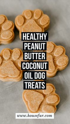 I hope your doggy enjoys this healthy & homemade coconut oil & peanut butter dog treat! Homemade Peanut Butter Coconut Oil Dog Treats : Healthy + Delicious