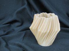 Gold 3D Printed Vase by Bauwerk3D on Etsy, $10.00