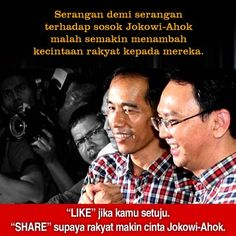 "Pak Jokowi mengatakan ""musuh semakin banyak"". Kita katakan, ""teman bertambah lebih banyak untuk Jokowi-Ahok."""