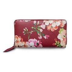dab1ca545e7 Gucci Shanghai St Red Blooms Blossoms Floral Leather Zip Around Wallet Box  NewShop Related ProductsGucci Shanghai
