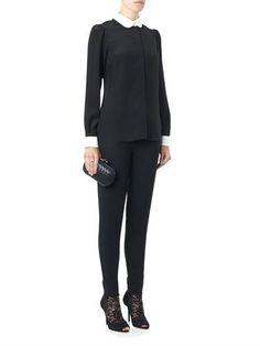 Dolce  Gabbana Bi-colour silk blouse
