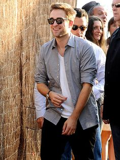 HEY, MR. COOL    Following an affectionate date night with Kristen Stewart, Robert Pattinson hits the promotional trail for his new film, Cosmopolis, Thursday at the Cannes Film Festival.
